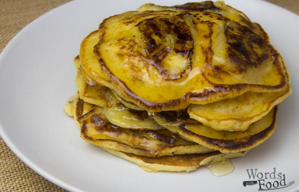 Banana Pancakes With Honey