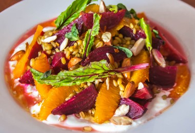 Beetroot Orange Salad With Freekeh