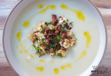 Cauliflower And Apple Soup With Chorizo