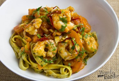 Prawn Garlic Chilli Fettuccine