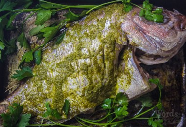 Whole Snapper With Green Charmoula