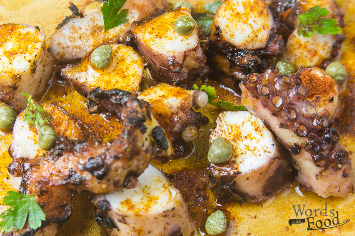 Octopus With Capers And Paprika