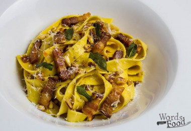 Pappardelle With Bacon, Pine Nuts And Sage