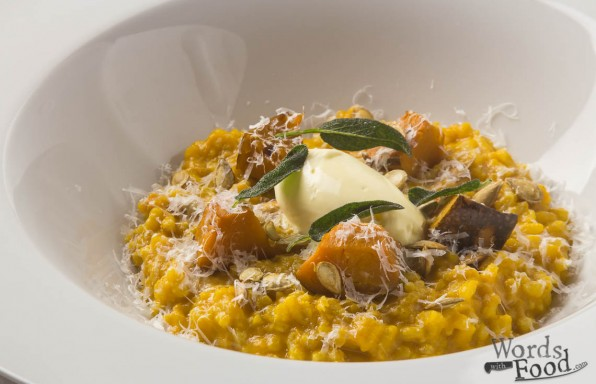 Pumpkin Risotto With Crispy Sage And Marscapone